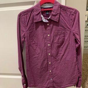 Tommy Hilfiger Purple Button Down